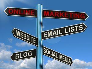 street sign for online marketing