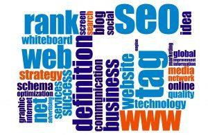 Web word cloud for seo
